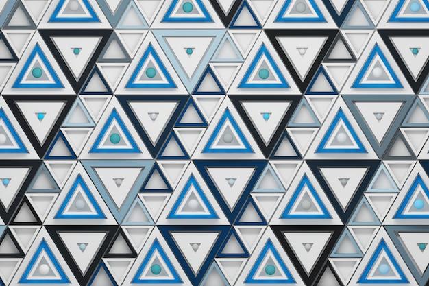 Naadloos patroon met het herhalen van driehoeken en ballen