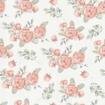 Naadloos patroon met schattige delicate lentebloemen en bladeren