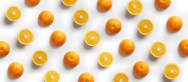 Naadloos patroon met sinaasappel