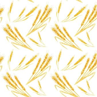 Naadloos patroon met tarwe