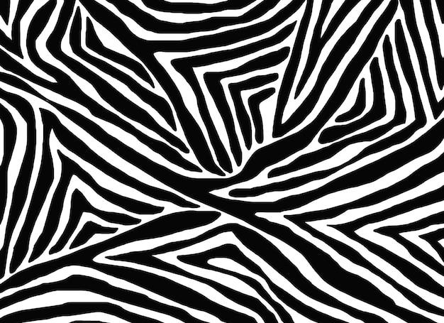 Naadloos patroon met zebrahuid