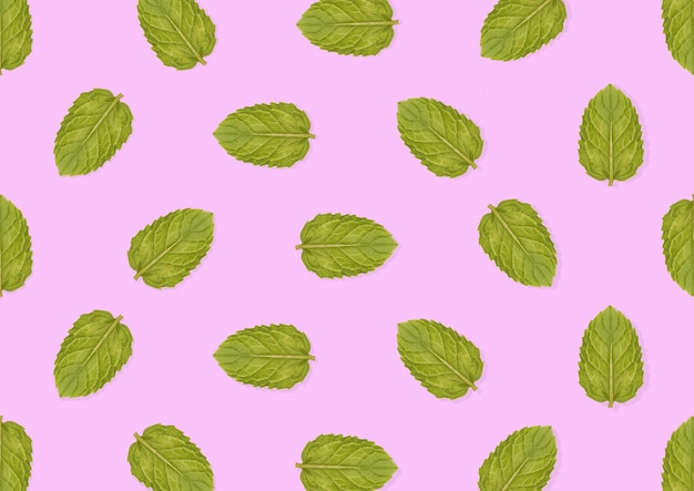 Naadloos patroon van groene munt