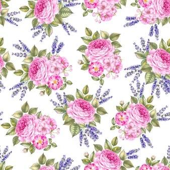 Naadloos patroon van rozen