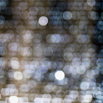 Naadloos patroon van witte gloeiende verlichte bokeh achtergrond