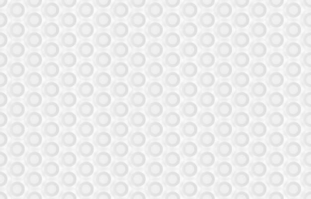 Naadloos patroon van zeshoeken en cirkels op basis van zeshoekig raster