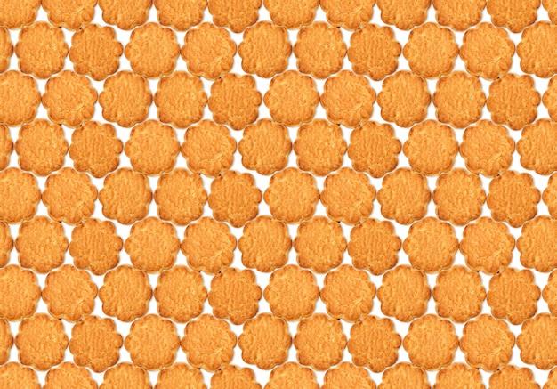 Naadloos textuurpatroon met zoete havermoutkoekjes