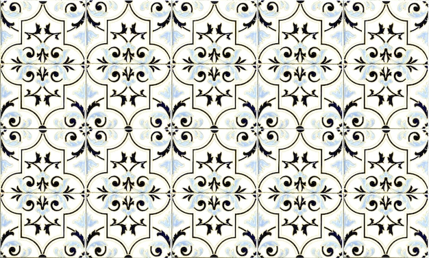 Naadloze azulejo-tegel uit portugal of spanje. hoge resolutie.