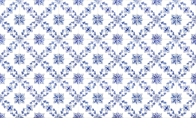 Naadloze azulejo-tegelachtergrond in portugal of spanje. hoge resolutie.