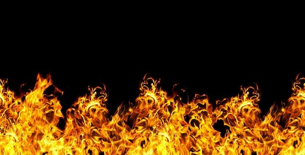 Naadloze brand op een zwarte achtergrond