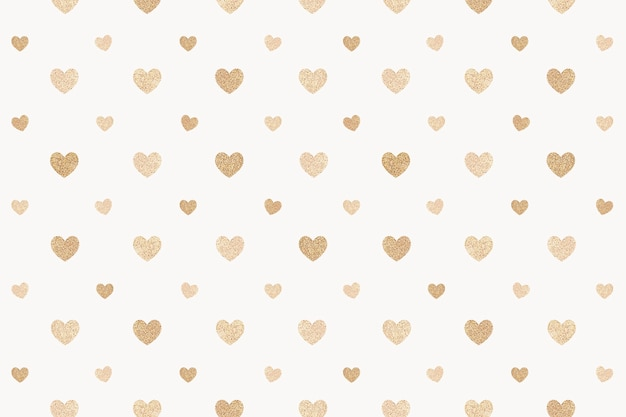 Naadloze glittery gouden harten gevormd