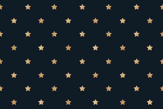 Naadloze glittery gouden sterren ontwerpmiddel