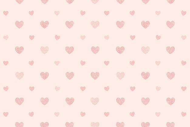 Naadloze glittery roze harten patroon