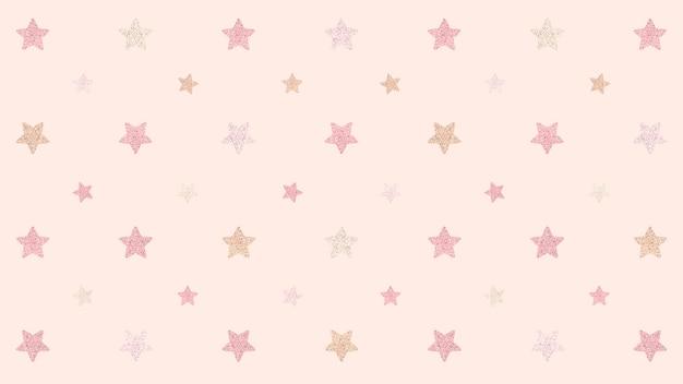 Naadloze glittery roze sterren achtergrondontwerp resource