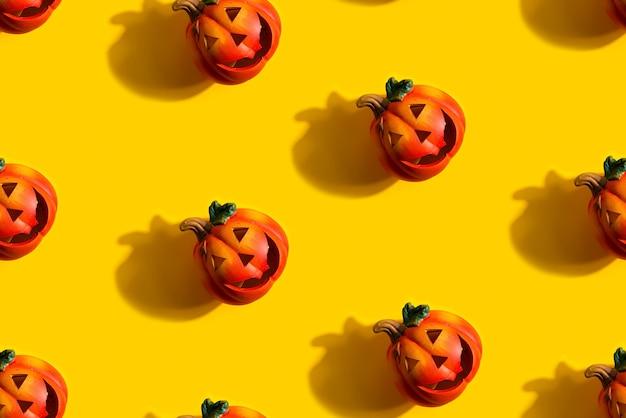Naadloze jack lantaarns pompoen patroon als halloween