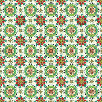 Naadloze kleurrijke patroon achtergrond