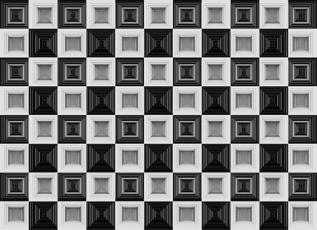 Naadloze luxueuze witte en zwarte vierkanten raster geometrie