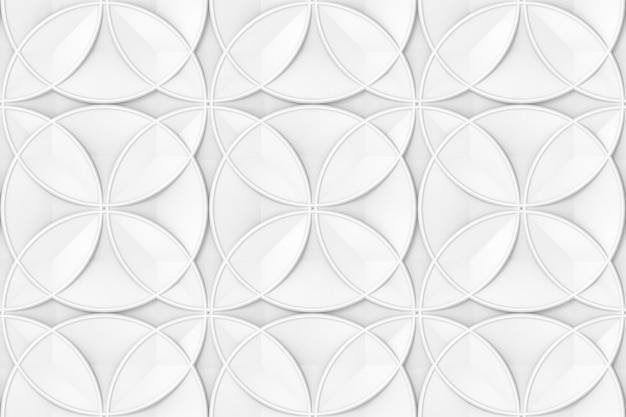 Naadloze moderne grijze cirkel vorm patroon.