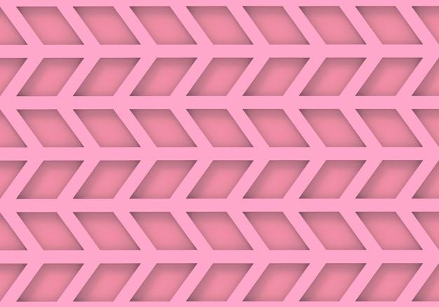 Naadloze moderne roze trapezoïde geometrische patroonmuur