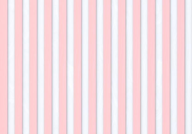Naadloze moderne zoete pastel roze kleur verticale houten panelen rij op witte achtergrond.