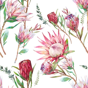 Naadloze patroon met aquarel bloemen