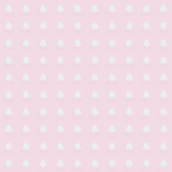 Naadloze patroon met roze kerstballen op roze papieren achtergrond