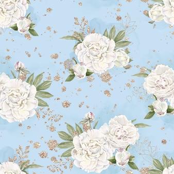 Naadloze patroon van delicate bloemen rozen. aquarel illustratie.