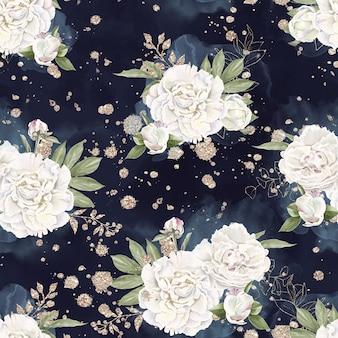 Naadloze patroon van delicate bloemen rozen. aquarel illustratie