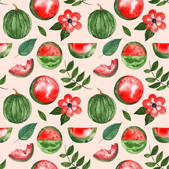 Naadloze patroon van watermeloen