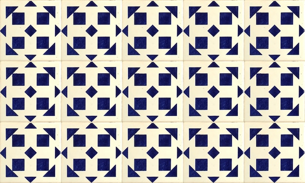 Naadloze portugal of spanje azulejo tile background