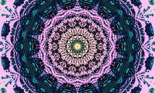 Naadloze roze mozaïek gekleurd patroon met stippen. traditionele etnische sieraad. gebruik voor behang, opvulpatronen, textielontwerp.