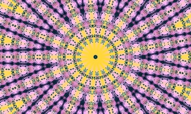 Naadloze roze mozaïek gekleurd patroon met stippen. traditionele etnische sieraad. gebruik voor behang, opvulpatronen, textielontwerp