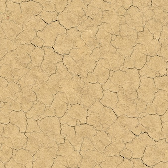 Naadloze tegelbaar textuur van gebarsten bodem