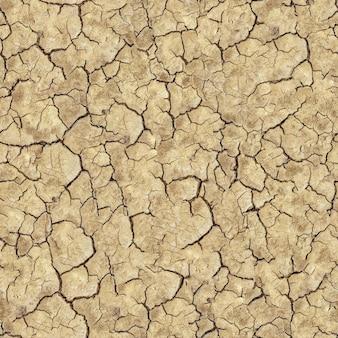 Naadloze tegelbaar textuur van gebarsten bruine bodem