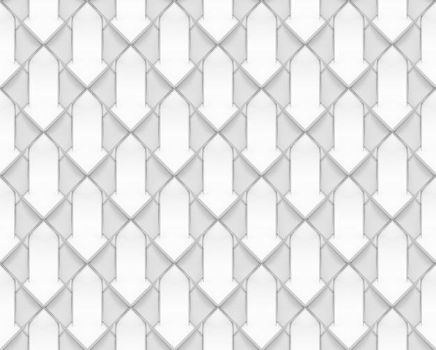 Naadloze witte geometrische rasterpatroon tegel textuur achtergrond.