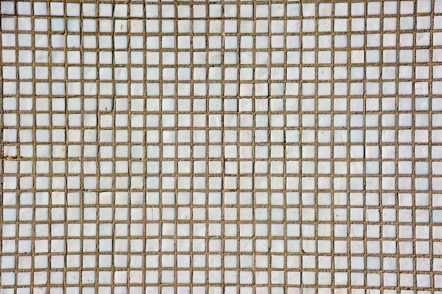 Naadloze witte vierkante tegels textuur. witte mozaïek tegels abstracte achtergrond en textuur.