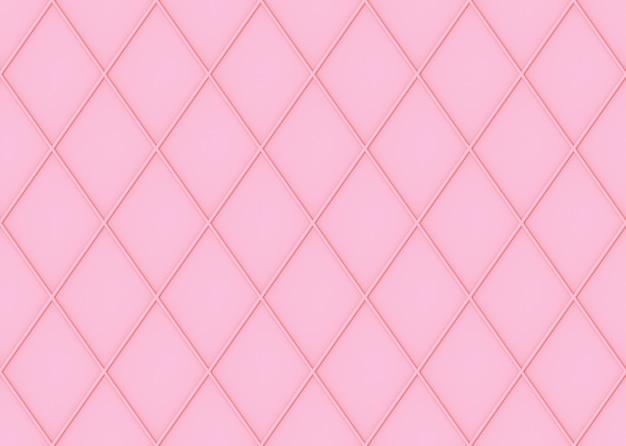 Naadloze zoete zachte roze kleurtoon raster vierkante kunst patroon muur achtergrond.