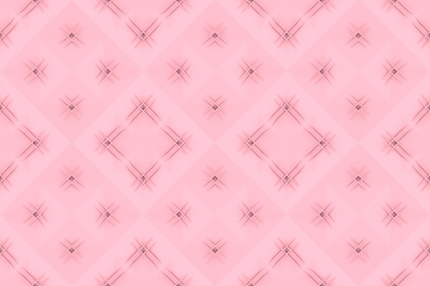 Naadloze zoete zachte roze raster vierkante kunst patroon tegel muur achtergrond.