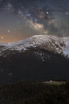 Nacht in de bergen