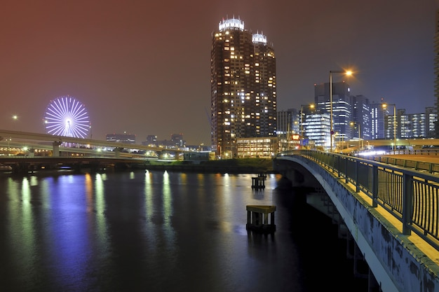Nacht stadsgezicht