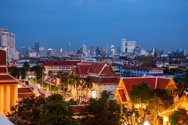 Nacht uitzicht op de stad bangkok