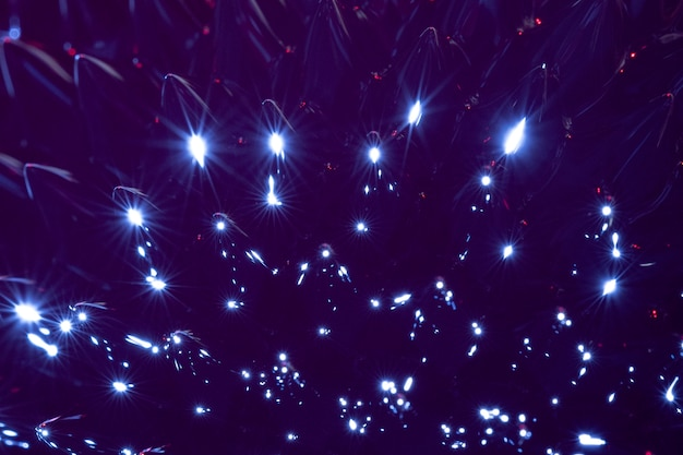 Nachtblauw extreem close-up ferromagnetisch metaal