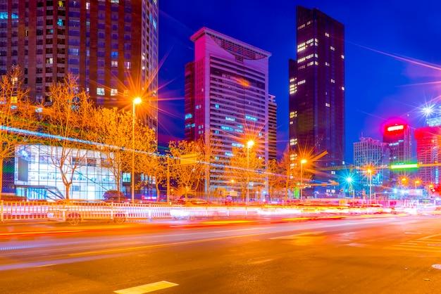 Nachtscène van de stad