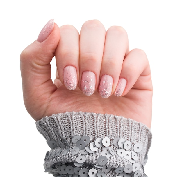 Nagels ontwerp. kerst manicure geïsoleerd op wit