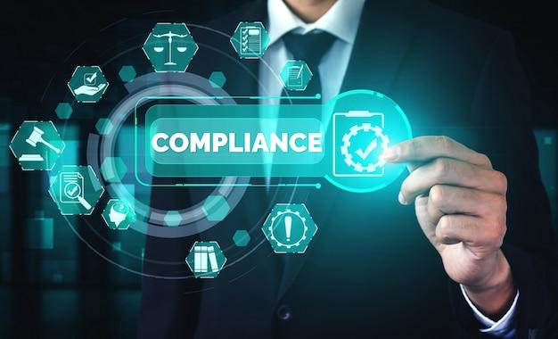 Naleving regel wet- en regelgeving grafische interface voor bedrijfskwaliteitsbeleid