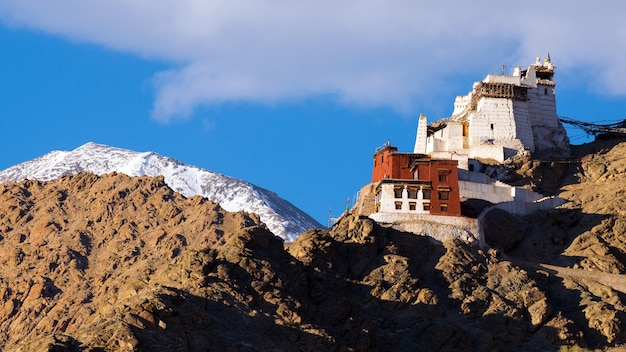 Namgyal tsemo gompa, belangrijk boeddhistisch kloostercentrum in leh, ladakh, india