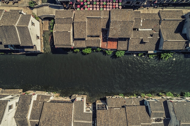 Nanchang straat oude stad in wuxi, china