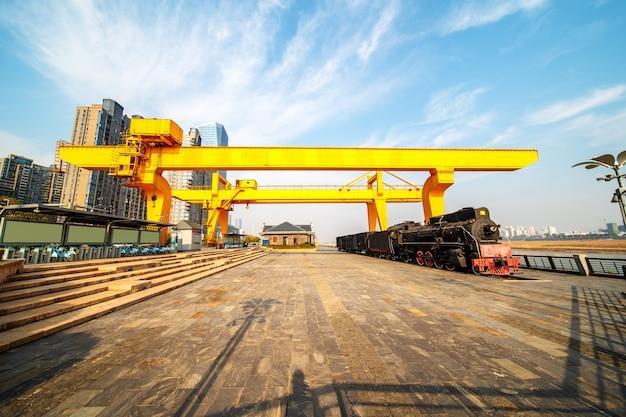 Nanchang uitkijkplatform voor oude treinproductie