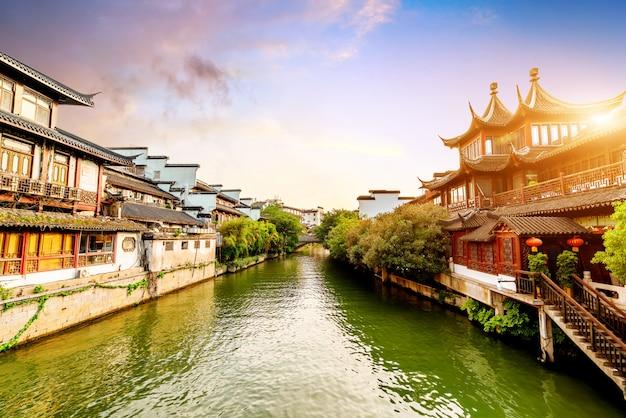 Nanjing confucius tempel nacht uitzicht