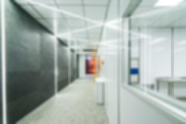 Nano technologie fabriek thema vervagen achtergrond