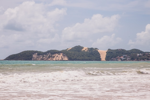 Natal, rio grande do norte, brazilië - 12 maart 2021: mooie luchtfoto van de